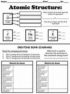 physical science atomic structure worksheet atomic structure worksheet by for the love of science tpt