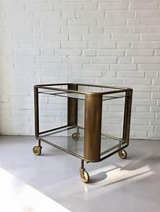 Deco Barwagen Vintage Teewagen Beistelltisch Messing