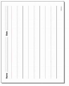 handwriting worksheets template free 21586 landscape handwriting paper