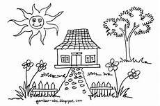 Gambar Mewarnai Rumah Sederhana Belajar Mewarnai