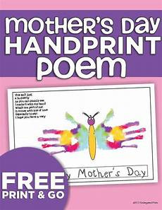 s day printable handprint poem 20557 mothers day handprint poem free kindergarten activity mothers day poems handprint poem