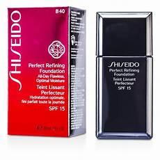 shiseido refining foundation spf15 b40