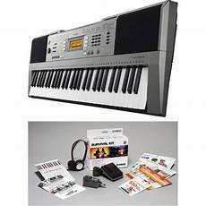yamaha survival kit yamaha psr e353 portable keyboard with survival kit psre353 kit