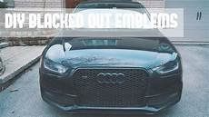 diy blacked out emblems apr audi s4 youtube