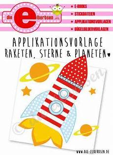 applikationsvorlage rakete sterne planeten applikation