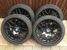 bmw e90 18 inch staggered black alloy wheels 163 380 00
