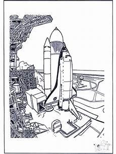 Ausmalbild Rakete Astronaut Space Shuttle Malvorlagen Raumfahrt