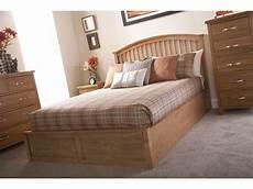 madrid oak 135cm 4ft 6 double end lift wooden ottoman storage bed