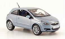 Opel Corsa Miniature Grise Metalliseebleu 3 Turer 2006