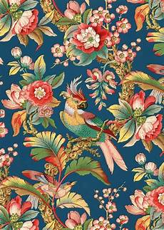 Flower Illustration Wallpaper by Antique Chinoiserie Wallpaper Tropical Birds Peony
