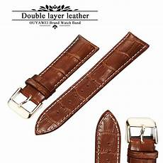 20mm Leather Band by 100 Genuine Leather Band 20mm 22mm 24mm Brown
