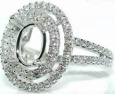 75 ct oval double halo diamond mounting ring setting ebay