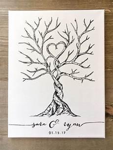 canvas thumbprint fingerprint guest book in 2019 lovely little weddings wedding tree guest