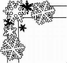 Ausmalbilder Schneeflocken Gratis Schneeflocken Am Rand Ausmalbild Malvorlage Gemischt