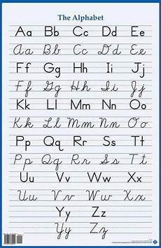 handwriting worksheets free to print 21666 alphabet wall poster manuscript cursive teaching cursive cursive alphabet handwriting