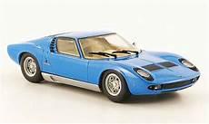 modellautos lamborghini miura 1 43 minichs bleu 1966