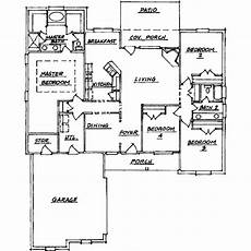 2100 square foot house plans traditional style house plan 4 beds 2 baths 2100 sq ft