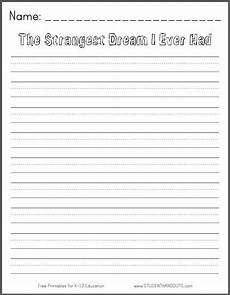 the strangest dream i ever had free printable k 3 writing prompt student handouts