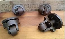Roulettes Industrielles Vintage En Fonte Les Vieilles Choses