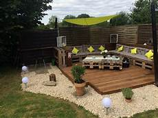 garden decking furniture recycled pallet garden deck with furniture pallet ideas