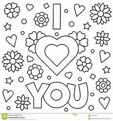 i you coloring page vector illustration stock
