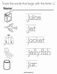 letter j worksheets for grade 1 23163 trace the words that begin with the letter j coloring page twisty noodle letter coloring