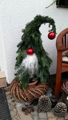 Weihnachtsdeko Zum Selber Machen - tannenwichtel gebastelte weihnachtsdekoration
