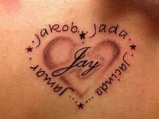 tatouage coeur prenom modele tatouage 5 prenoms avec coeur et etoiles images