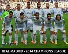 Real Madrid 2014 Chions League Starting Line Up