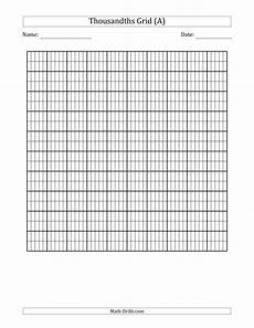 subtraction worksheets with grids 10325 thousandths grid decimals worksheet