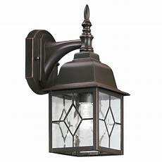 shop portfolio litshire 13 5 in h rubbed bronze outdoor wall light at lowes com