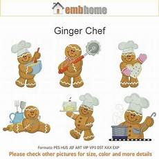 Chef Cook Machine Embroidery Designs Instant