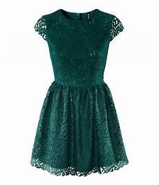H Und M Kleid - lyst h m lace dress in green