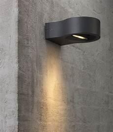 black exterior wall light with adjustable led spot light