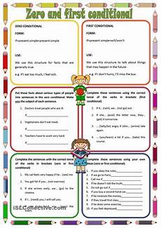 zero and first conditionals esl worksheets of the day english lesson plans learn english