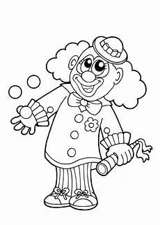 Fasching Ausmalbilder Clown 50 Faschingsbilder Zum Ausmalen F 252 R Kinder Kostenlos