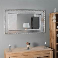 miroir palerme en bois patin 233 argent 233 140cm x 80cm