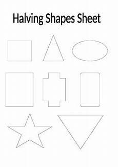 halving shapes worksheet eyfs 1106 halving shapes worksheet by marks teaching resources tpt