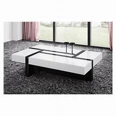 Table De Salon Rectangulaire Noir Et Blanc Comforium