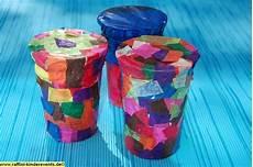 Recycling Basteln Joghurtbecher Trommel And
