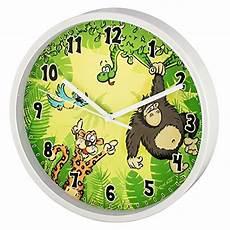 Hama Kinder Wanduhr Ohne Ticken Dschungel Analoge Uhr
