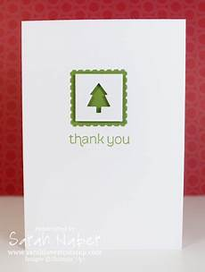 merry minis tree christmas thank you note card simple cards christmas cards