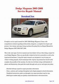 service manuals schematics 2008 dodge magnum user handbook download dodge magnum 2005 2008 workshop manual pdf by david zhang issuu