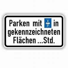 Verkehrsschilder Parkplatzschilder Parken Mit