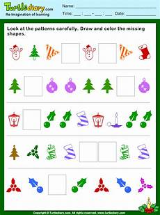 shapes pattern worksheets for grade 1 1234 pattern draw and color missing shapes worksheet turtle diary