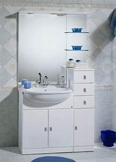 mobile lavello bagno arredo bagno cleo da 70 cm con lavabo semincasso e specchio