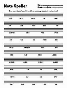 note spelling worksheets 22477 note speller lines and spaces letter names practice for bass or treble clef teaching
