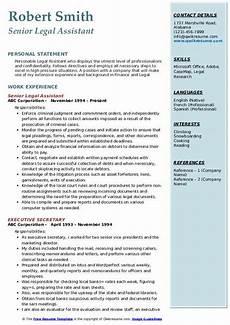 legal assistant resume sles qwikresume