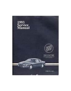 car service manuals pdf 1993 buick regal user handbook 1993 buick regal factory service manual 2 volume set