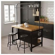 Cuisine Ilot Ikea Vadholma 206 Lot De Cuisine Avec Casier Noir Ch 234 Ne Ikea